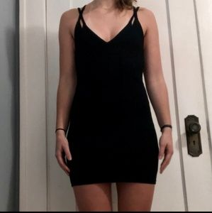 Little black strappy dress by Topshop Size 6